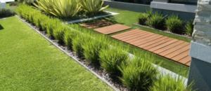 jardin moderne acier corten