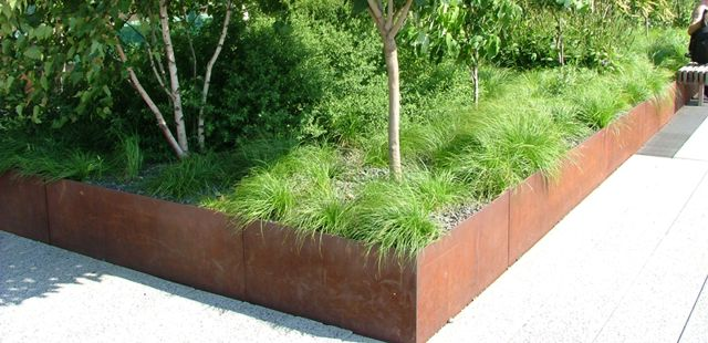 jardini res acier corten solides et esth tiques ami. Black Bedroom Furniture Sets. Home Design Ideas