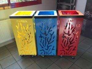 poubelle design tri selectif