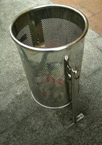 poubelle inox urbain