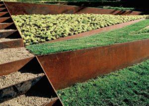 retenue terre acier corten