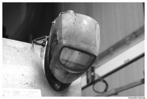 masque de soudage metallerie par chrystele garnier