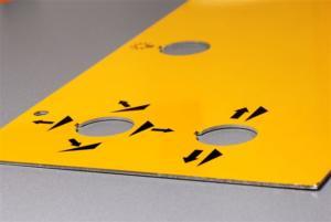 tolerie fine avec sérigraphie sur aluminium