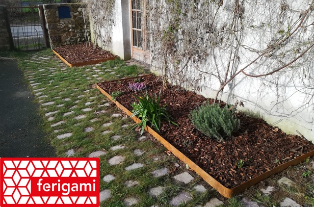 Bordure de jardin en acier corten durables et esth tiques ferigami - Bordure de jardin metal ...