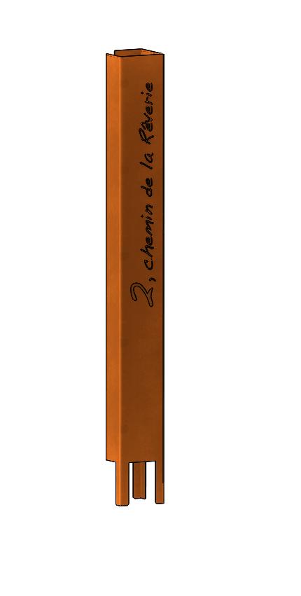 pilier entrée acier corten