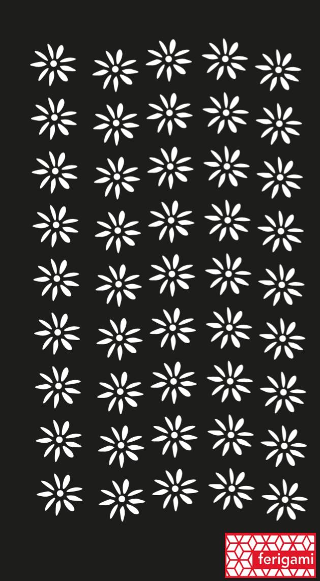tole DÉCORATIVE ferigami decors fleur