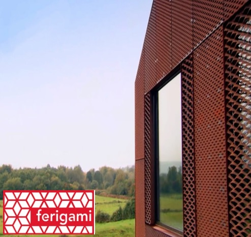 architecture acier corten alu FERIGAMI résille