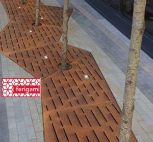corten grille chemin ferigami