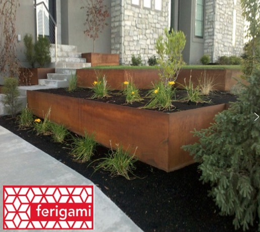 jardin acier corten ferigami