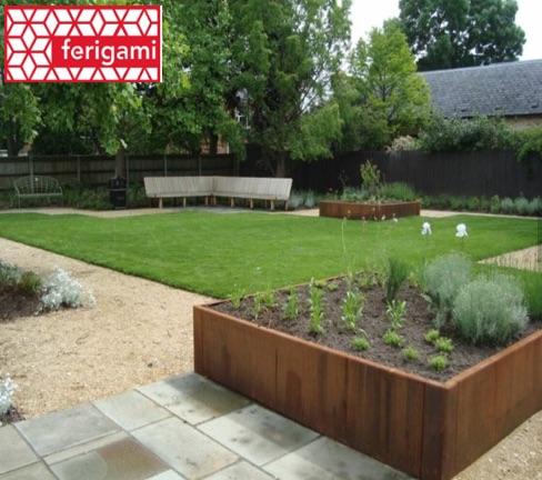 jardiniere metal corten ferigami