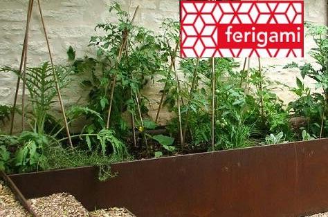 jardiniere potager FERIGAMI en acier corten