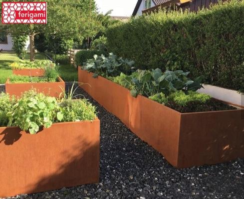 jardinieres acier corten ferigami