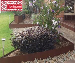 le corten au jardin ferigami