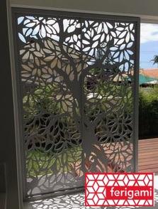 Tole en acier à motif arbre gamme FERIGAMI