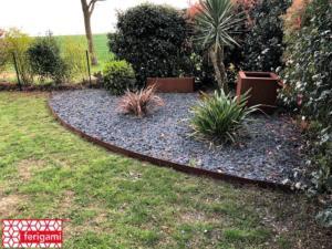 massif bordures ferigami jardin