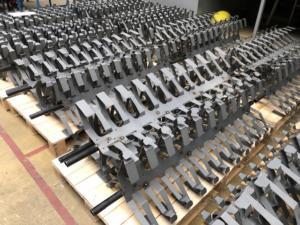 fabrication présentoirs métalliques