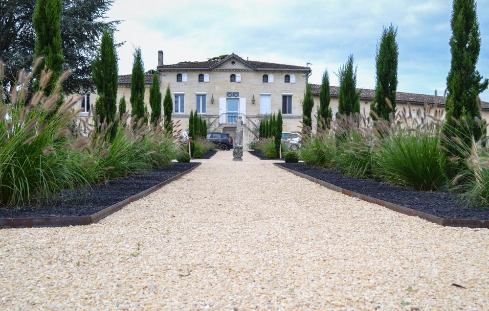 bordures corten jardin francaise château
