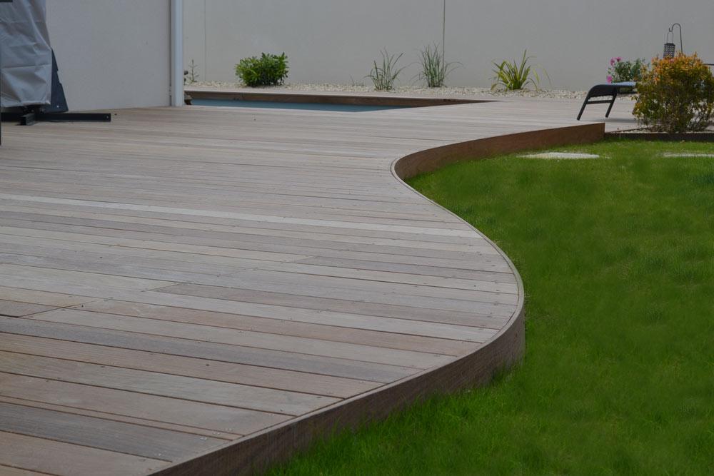 bordure corten terrasse bois