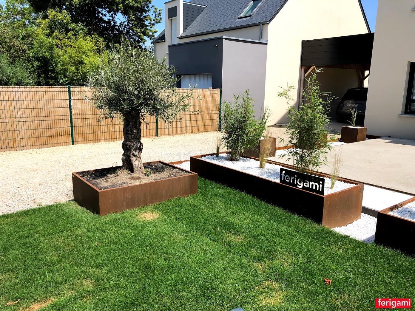jardiniere acier corten