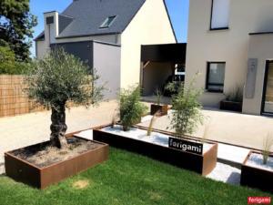 jardinieres acier corten