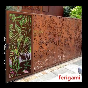 fenced corten ferigami