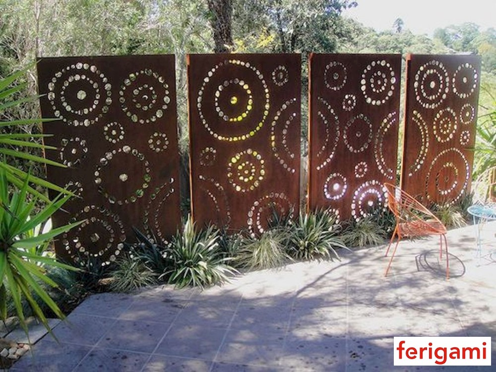 Corten view breeze panel