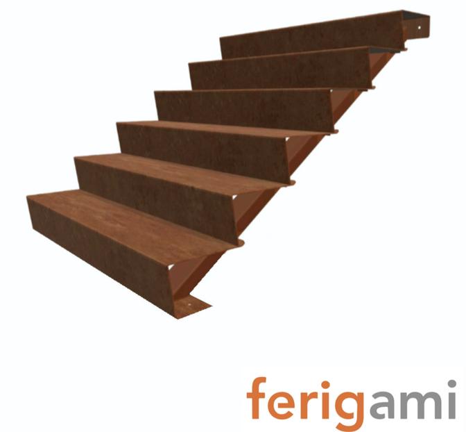 escalier corten ferigami