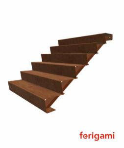 escalier corten