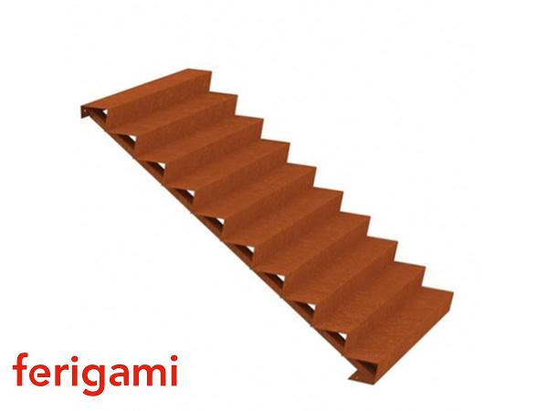escaliers corten