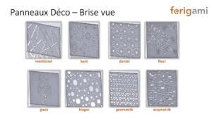 panneaux deco laser