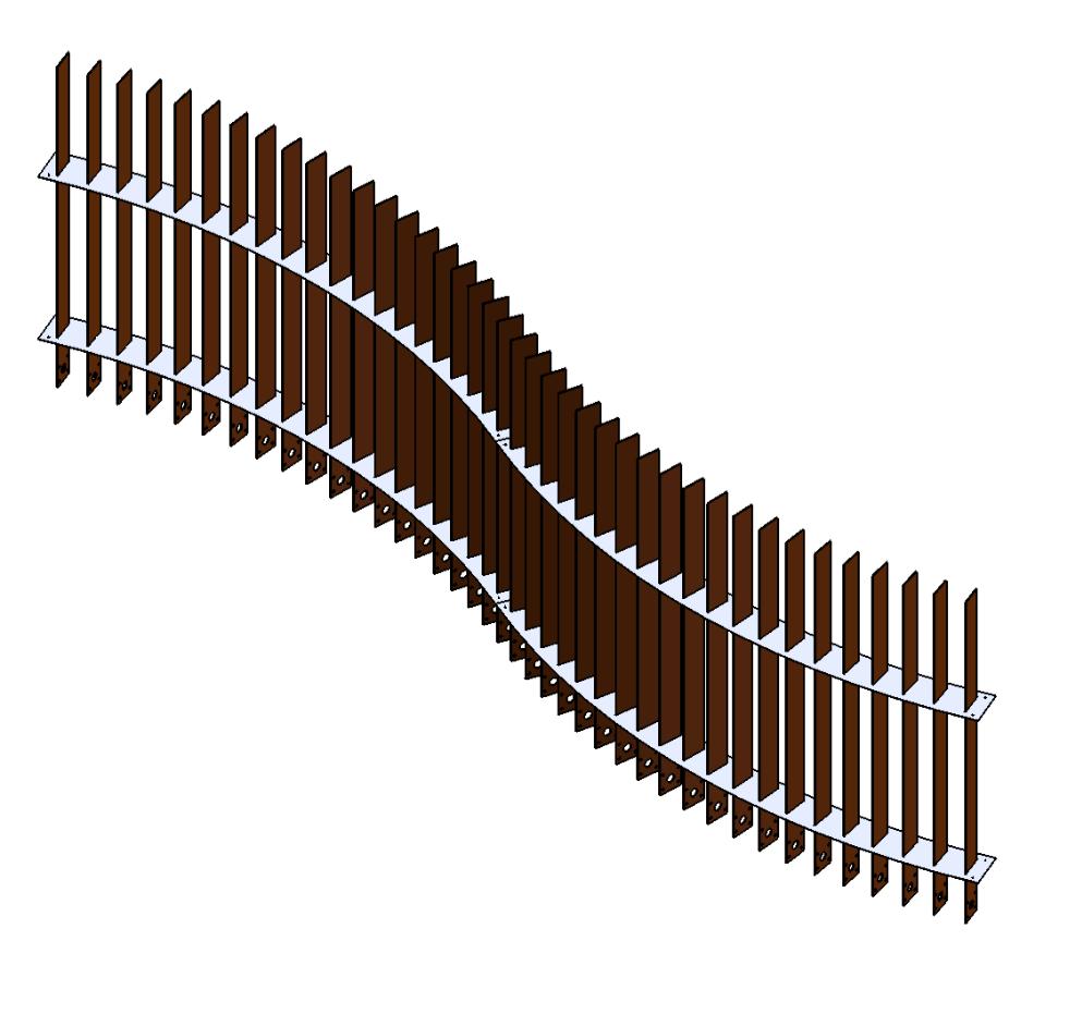 cloture acier corten ferigami
