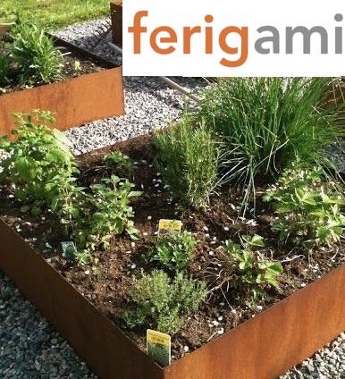 jardiniere rouille corten ferigami