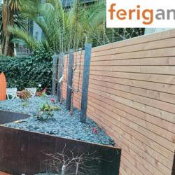 jardiniere triangle corten