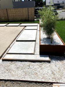 jardiniere corten steel